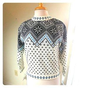 Hanna Andersson fair isle cotton nordic sweater